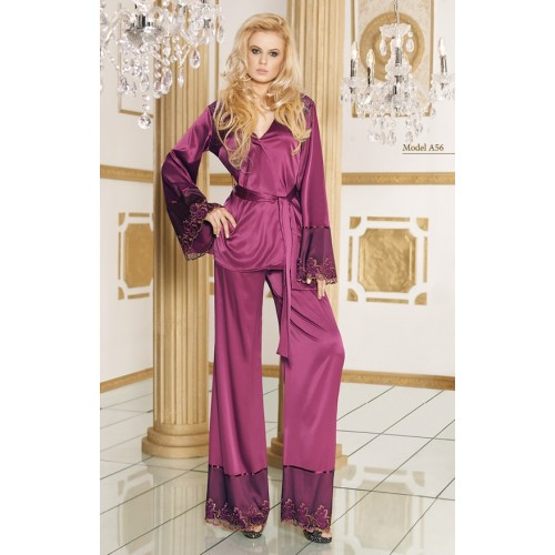 Pyjama long prune A56 - NDR